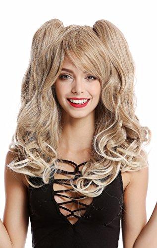WIG ME UP - YZF-4379-27T613 Perücke Damenperücke Cosplay 2 abnehmbare Zöpfe lang wellig Gothic Lolita Blond Mischung Platin Spitzen (Sexy Super Modell Blonde Perücke)