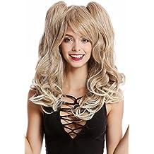 Perücke Damen Cosplay Karneval blond lang voluminös Zöpfe girly Japan Lolita