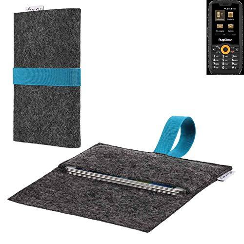 flat.design vegane Handy Hülle Aveiro für Ruggear RG150 passgenaue Filz Tasche Case Sleeve Made in Germany