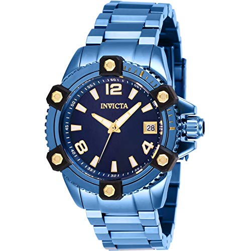 Invicta Women's Pro Diver Blue Steel Bracelet & Case Swiss Quartz Watch 27748