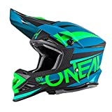Oneal 8 Series aggressore motocross casco, Blue Neon Green
