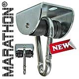 www.die-schaukel.de MARATHON Rollengelenk - lautloser Schaukelhaken und Schaukelgelenk mit Kugellager für Hängesessel, Schaukeln und Hängematten