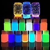UPXIANG Vernice acrilica atossica fosforescente, emette una luce brillante per feste e decorazioni, confezione da 20 g, cielo blu
