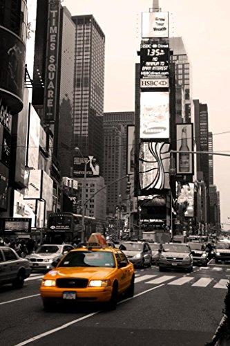Poster Gießerei Time Square New York City Taxi auf der Move Foto Kunstdruck von proframes 54x36 inches Poster