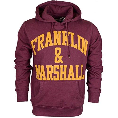 Franklin-Marshall-MF435-Printed-Arch-Logo-Vintage-Port-Hoodie