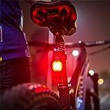 Intelligente Bremse Induktion Rücklicht Fahrrad Rücklicht Schnellverschluss Rücklicht Sport Outdoor Ausrüstung Rucksack Warnlicht,58*51mm,ABS+PC,Lichtmodus: 5 Arten