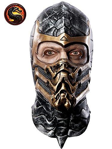 Mortal Kombat Skorpion Delux Maske für Erwachsene Latex Maske (Subzero Kostüm)