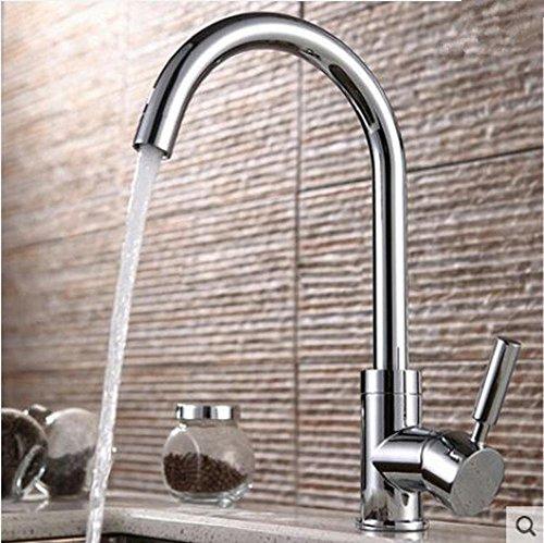 Wmshpeds Copper Waschbecken Wasserhahn Single-Küche mit warmen und kalten Mix Spüle kann Wasserhahn gedreht werden