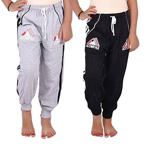 ALOFT Unisex Multicolor Cotton Track Pants - AloftAcompas3-TracksPants-2pcs_11-12 Years
