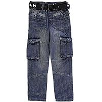 Airwalk Ninos Oscuro Wash Vaquero Junior Chicos Denim Pantalones Casual Ropa Abajo Azul Large