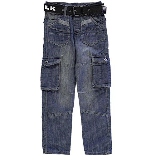 airwalk-ninos-oscuro-wash-vaquero-junior-chicos-denim-pantalones-casual-ropa-abajo-azul-x-large