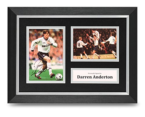 Darren-Anderton-Signed-A4-Photo-Framed-Display-Tottenham-Memorabilia-Autograph