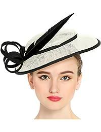 ff6b16aee0b08 Chapeau de Cérémonie Elégant Bibi Chapeau Mariage de Grand Visière  Accessoires Cheveux Pour Femme Mariées
