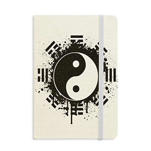 Yin-yang-stoff (DIYthinker Acht Diagramme Taiji Yin-Yang China Muster Notebook Stoff Hard Cover Klassisches Journal Tagebuch A5 A5 (144 X 210mm) Mehrfarbig)