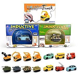 Induktive Auto Spielzeug Set Induktives für Kinder Autopilot Magic Inductive Car Toy Set Geburtstag Geschenke (Locomotive)