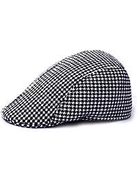 MZ Sombrero Retro Cuadros Simples Hombres y Mujeres al Aire Libre Sombrero  cálido Gorro de Lana 47bf344c253