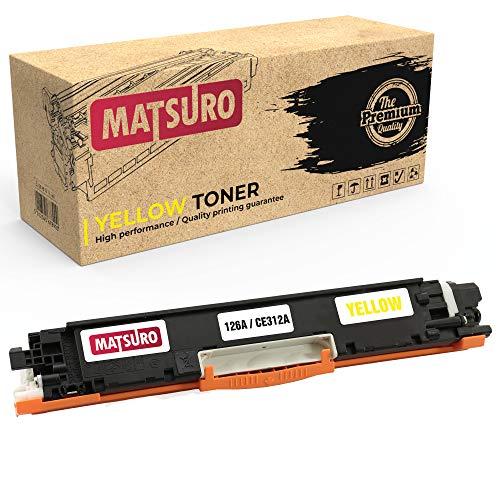 Matsuro Original | Kompatibel Tonerkartusche Ersatz für HP 126A CE310A CE311A CE312A CE313A (1 GELB)