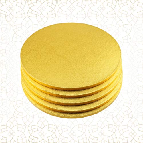 5 x Cake Drum 38 cm rund GOLD (13 mm) - Cakeboard CULPITT Gold Cake Drum