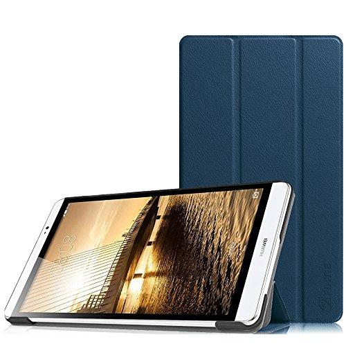 Fintie Huawei MediaPad M2 8.0 Hülle -Ultra Schlank Superleicht Ständer (SlimShell) Case Cover Schutzhülle Etui Tasche für Huawei MediaPad M2 8 Zoll LTE / WiFi Tablet-PC, Marineblau