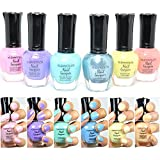 6 New Kleancolor PASTEL SUMMER COLLECTION LOT Nail Polish Lacquer Colors FREE EARRING