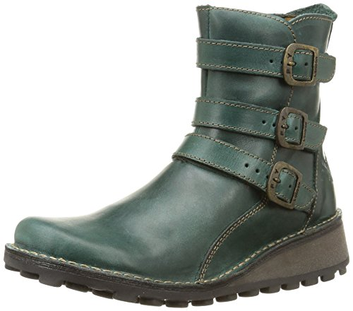 Fly London Women's Myso Rug Leather Zip Ankle Boot Camel 1