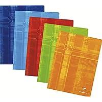 Clairefontaine Metric 3381C Cahier piqué 24 x 32 cm 144 pages Seyès grands carreaux Coloris aléatoire