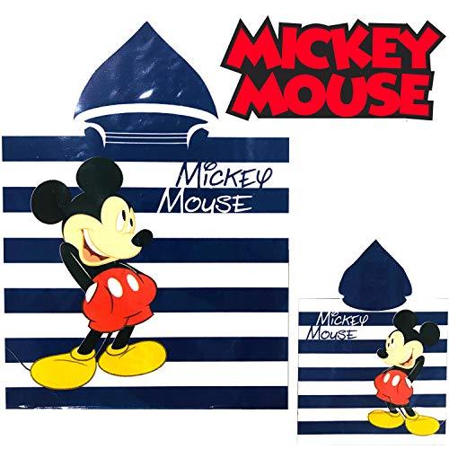 b358cc72baa959 Poncho Disney Mickey Mouse Mikrofaser Kapuzenhandtuch Strandbad Mikrofaser  Kinder 50x100cm (6008)