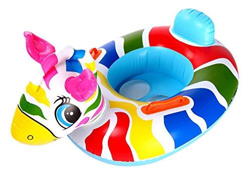 V-SOL Flotador para Bebés con Asiento de Juguete Piscina Niños Modelo Caballo Multicolor