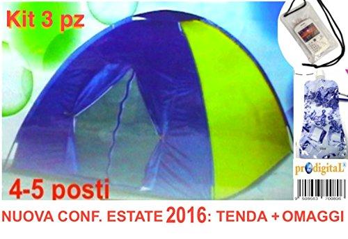 Tenda igloo stile canadese da 4-5 posti (persone) ideale per campeggio mare viaggio camping spiaggia misura 200x200x150 cm