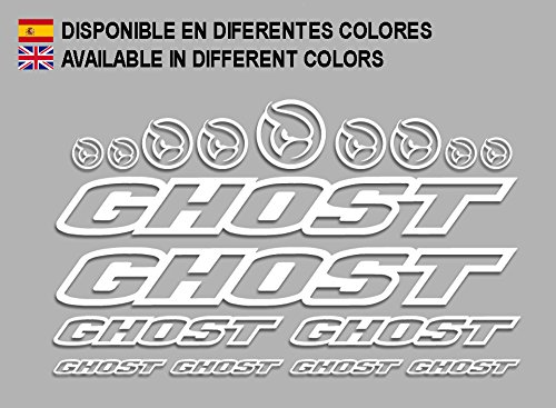 Ecoshirt 0B-E0CZ-599T Adesivi Ghost F188 Vinile Decal Aufkleber (MTB Stickers Bike, Bianco)