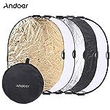 Andoer® 90 * 120cm 5 en 1 Multi-Disc Portátil Oval Reflector de Foto Estudio Fotografía