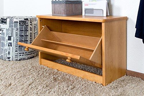 Schuhschrank Kiefer Vollholz massiv Erlefarben Junco 216 - 45 x 72 x 30 cm (H x B x T)