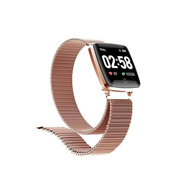 Reloj SAMA Fitness Trackers,Monitor de Frecuencia Cardíaca IP67,Rastreador de Actividad a Prueba de Agua,Reloj de… 2