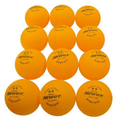 Newgy robo-Balls–Ping-Pong-Bälle (1Dutzend), orange