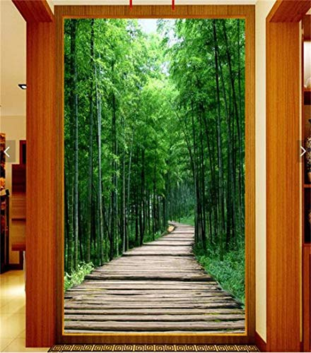 custom 3d photo wallpaper kids room mural Fresh bamboo forest board path painting TV background non-woven wallpaper for wall 3d-350X250CM Bamboo-bar-board