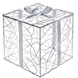 SANTEX 5400-1, Tirelire Boîte Cadeau en métal blanc