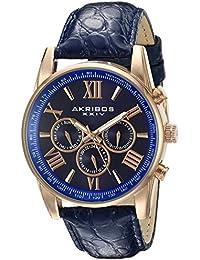 Akribos XXIV Analog Blue Dial Men's Watch-AK864RGBU