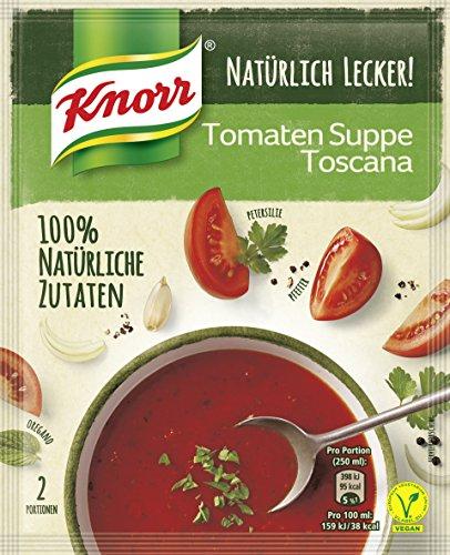 Knorr Natürlich Lecker! Tomaten Suppe Toscana Beutel, 5er Pack (5 x 58 g)