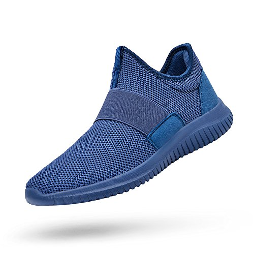 promo code 29a94 6dee5 QANSI Womens Mesh Slip On Casual Loafers Comfortable Sports Trainers  Walking Shoes,Blue 7