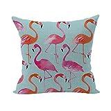 Nunubee Bettwäsche aus Baumwolle Dekorative Kissenbezug Platz Heim für Sofa Bett Auto Flamingos