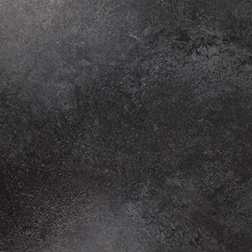 Klebefolie in Schiefer-Optik [200 x 67,5cm] I Selbstklebende Deko-Folie zum Verschönern von Möbel & Küche - hitzebeständig & abwaschbar I Blickdichte Selbstklebefolie in dunkler Stein-Optik