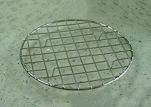 B&S FEEL Multi-Purpose Stainless Steel Round Baking and Cooling Rack, 8.25-Inches by B&S FEEL