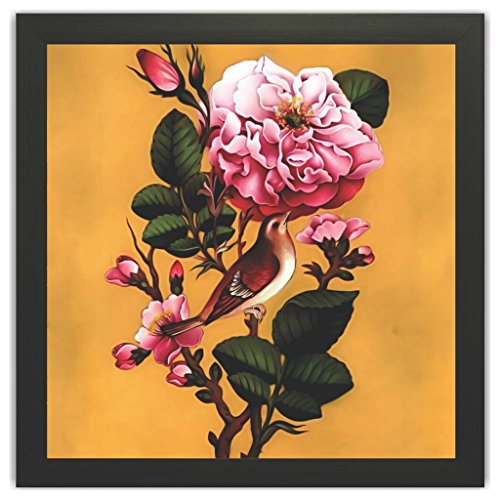 Printellignet Printelligent Framed Floral Wall Paintings for Living Room and Bedroom. Frame Size (12 inch x 12 inch, (Wood, 30 cm x 3 cm x 30 cm, Special Effect Textured)