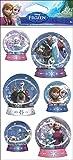 Disney Frozen (Eiskönigin) - 3 D Schneekugel Sticker, Schüttelsticker, 1 Bogen mit 6 Sticker (4 - 6 cm)