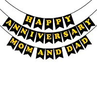 Party Propz Happy Anniversary Mom And Dad Banner For Anniversary Decoration Items Or Anniversary Gifts For Parents