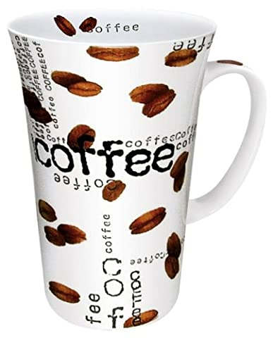 Konitz 19-Ounce Coffee Collage Mega Mugs, Assorted, Set of 4 by Konitz