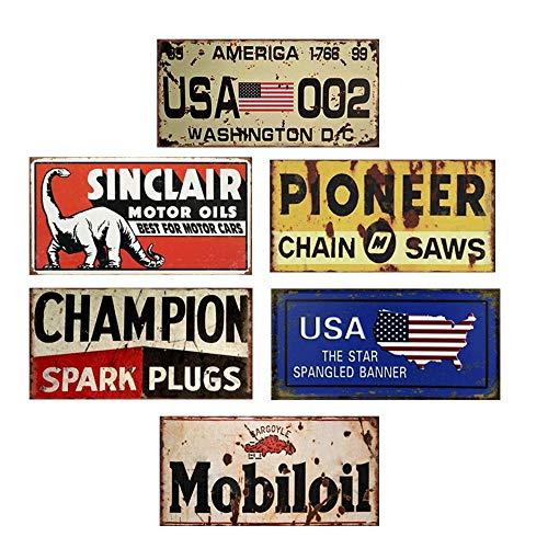 Easy Painter Lot de 6 plaques d'immatriculation pour Voiture américaine 6 pièces x 15 x 12