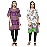 Eazy Women's Cotton Ethnic Kurti (Combo ...
