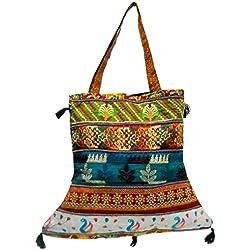 Indio hecho a mano Patchwork Boho Tote Tribal Hippie Jhola hombro bolsa # 231