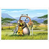 Wall Poster (Cartoon Animals,Surface Covering Area - 36 X 24 Inch) Buy 1 Get 1 Free